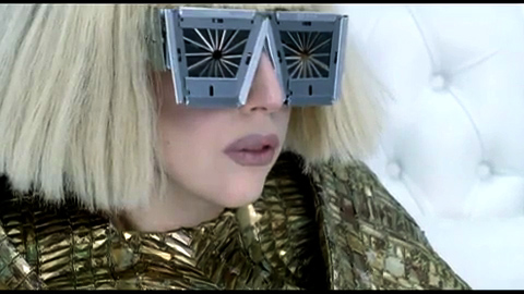 Lady Gaga's razor blade glasses