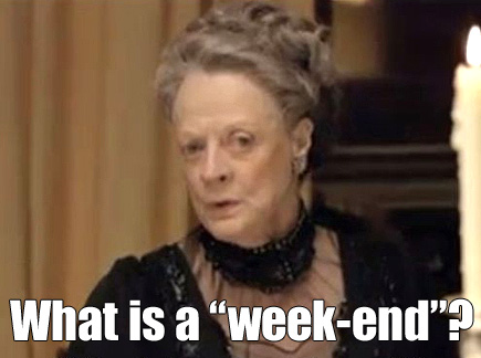 "What is a ""week-end""?"