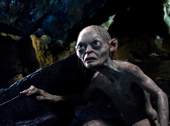 Gollum. Photos from The Hobbit: An Unexpected Journey directed by Peter Jackson