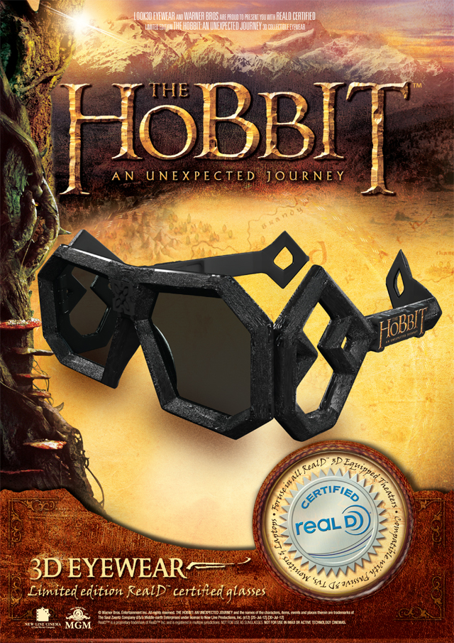 Hobbit 3D glasses