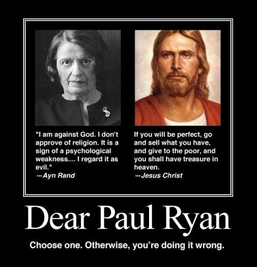 Paul Ryan Ayn Rand Jesus Christ
