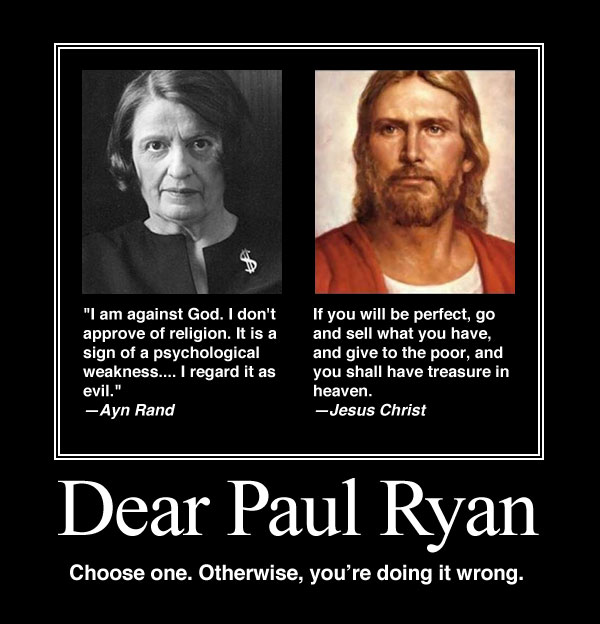 Paul Ryan Ayn Rand Jesus Christ