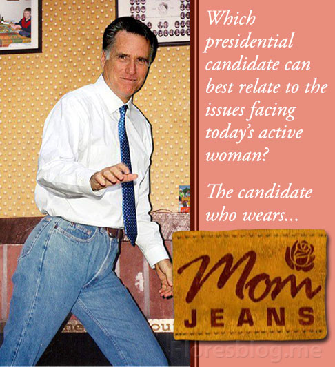 Mitt Romney wears Mom Jeans